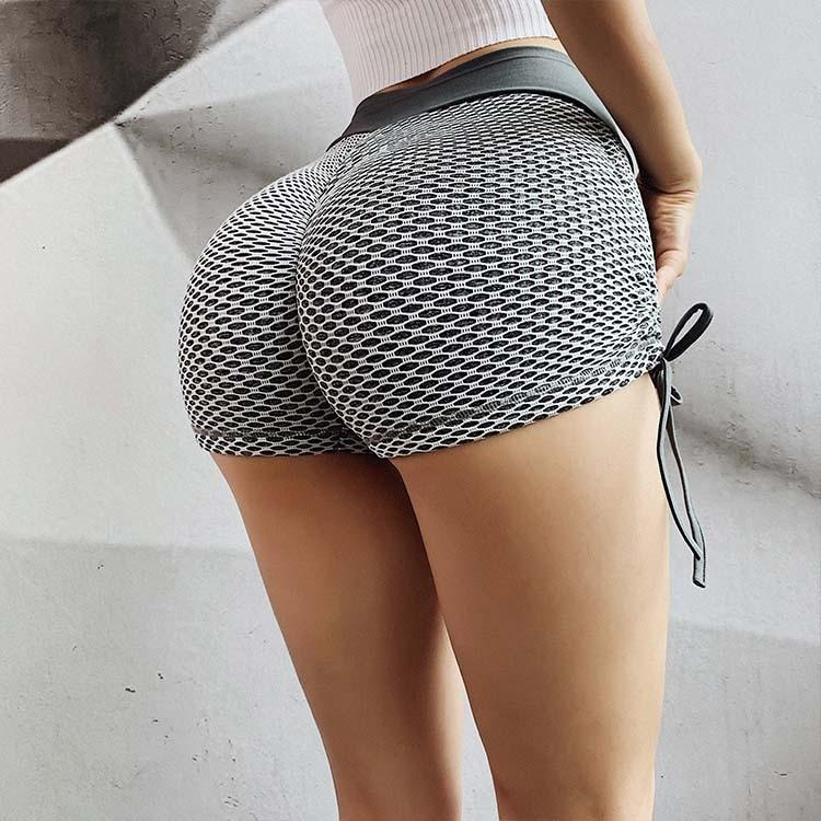 High Waist Dotted Quick-Dry Booty Lifting Shorts - Gymflexfitness