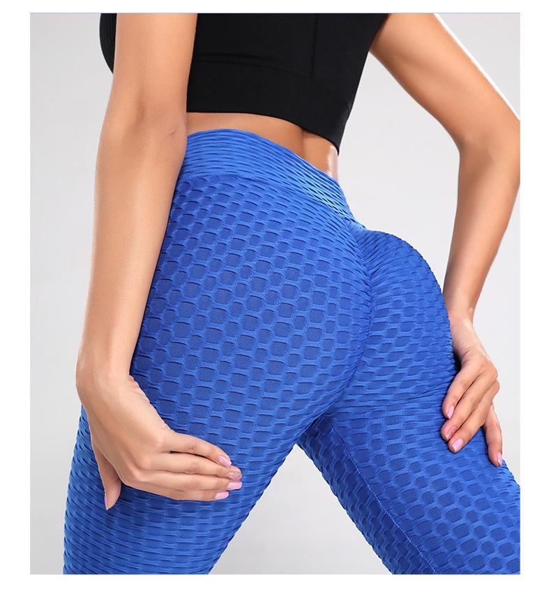 High Waist Textured Anti-Cellulite Slimming Push Up Leggings - Gymflexfitness