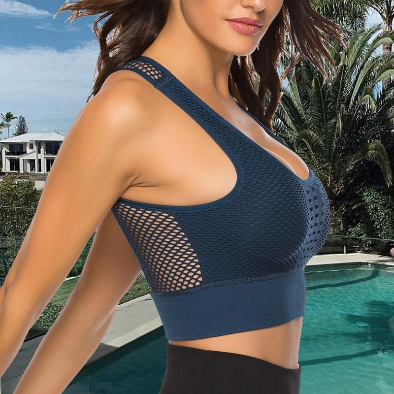 New Hot Backless Quick Dry Push Up Yoga Vest Sports Bra - Gymflexfitness