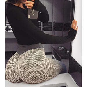 Seamless High Waist Stretch Dotted Fitness Booty Lift Leggings - Gymflexfitness