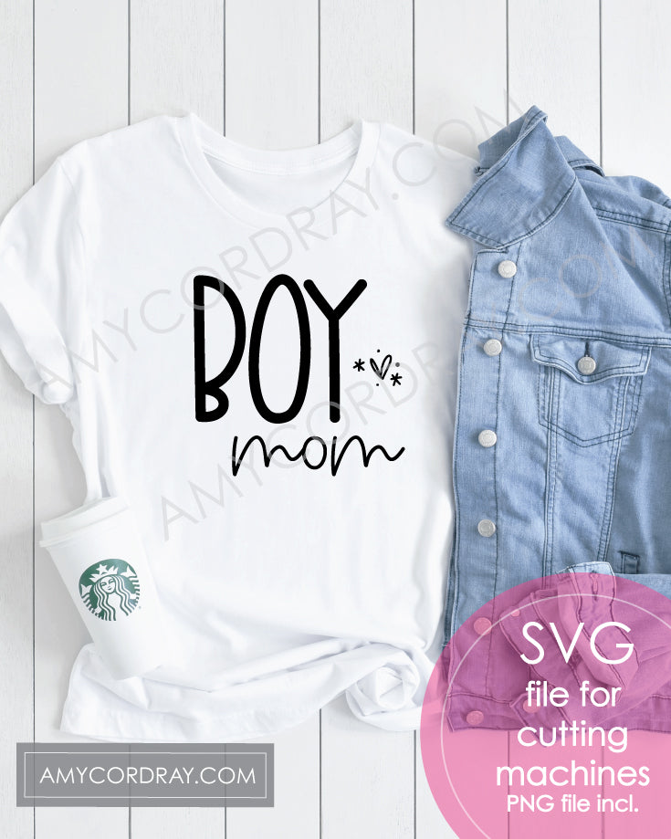 Boy Mom SVG Digital Cut File & PNG - Amy Cordray