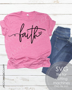 Faith SVG Digital Cut File & PNG - Amy Cordray