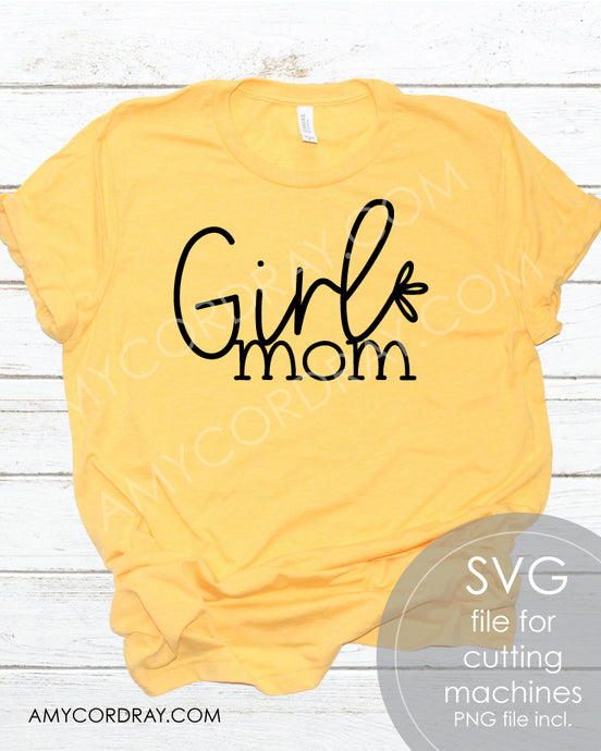 Girl Mom SVG Digital Cut File & PNG - Amy Cordray