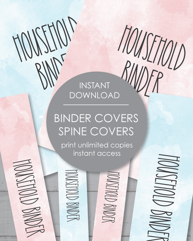 Printable Household Binder Covers 8.5x11