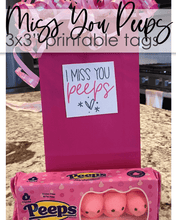 "Load image into Gallery viewer, Printable Miss You Peeps Tags - 3x3"" - Amy Cordray"