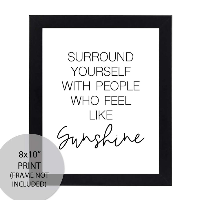 Printable Wall Art Sunshine Print - Home Office Ideas - Amy Cordray