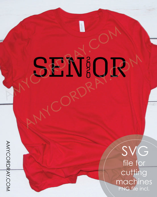 Senior 2020 SVG Digital Cut File & PNG - Amy Cordray