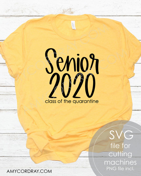 Senior Class Of 2020 SVG Digital Cut File & PNG - Amy Cordray