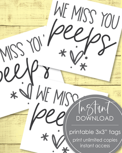 "Printable Miss You Peeps Tags - 3x3"" - Amy Cordray"