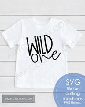 Load image into Gallery viewer, Wild One SVG Digital Cut File & PNG - Amy Cordray