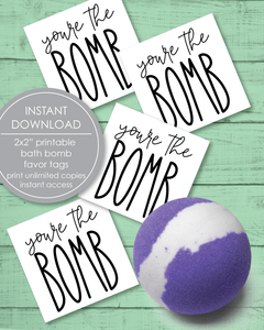 "Printable ""You're The Bomb"" Favor And Gift Tags - Amy Cordray"