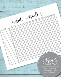 Printable Habit Tracker Template - Amy Cordray