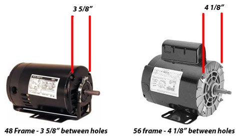 How to tell difference between 48 frame and 56 frame spa motors