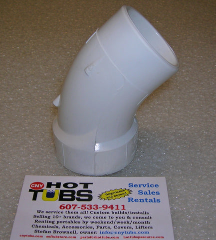 "1-1/2"" Street Sweep 45 Degree PVC Elbow, COMPACT"