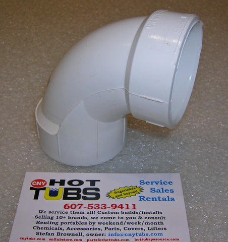 "1-1/2"" Sweep 90 Degree PVC Elbow, COMPACT"