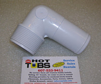 "1.5"" Threaded PVC Elbow Adapter for Hose"
