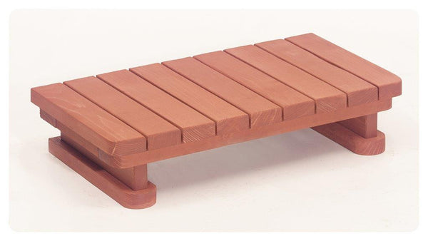 Single Step Redwood Spa Step 34 inch