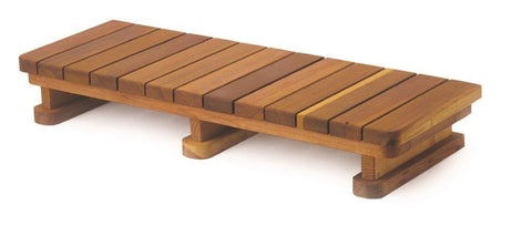 Single Step Redwood Spa Step 48 inch