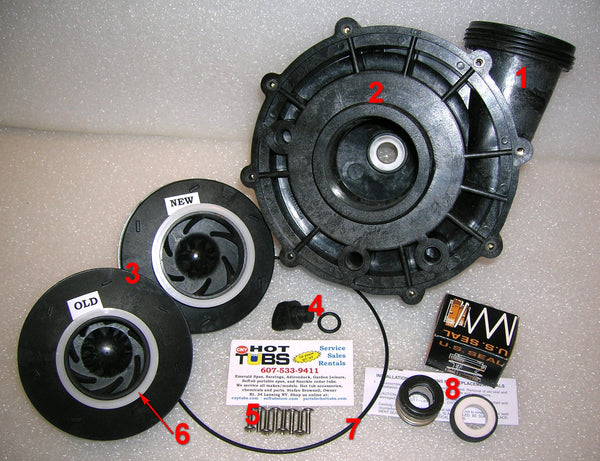 Aqua-Flo XP2e Spa Pump Volute ONLY (#1 in photo)