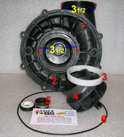 Aqua Flo XP3 Spa Pump Impeller  (#4 IN PHOTO)
