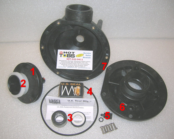 Main Pump shaft Seal for Aqua-Flo FMCP Spa Pump (#3 IN PHOTO)
