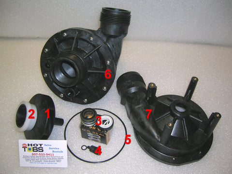 Faceplate for Aqua-Flo FMHP Spa Pump (#6 IN PHOTO)