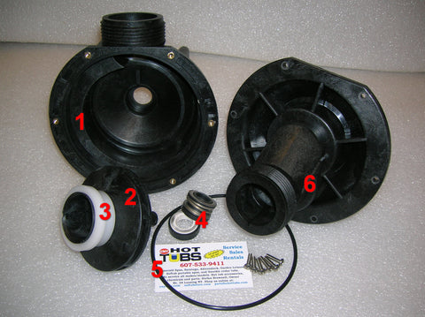 Impeller for Aqua-Flo TMCP Spa Pump (#2 IN PHOTO)
