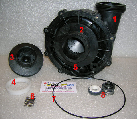 Aqua-Flo XP2 48 Frame Spa Pump Face ONLY (#2 in photo)