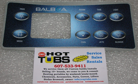 Balboa 8-button Topside Control Overlay Sticker