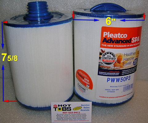 6 in x 9 in Threaded Spa Filter, PWW50, FC-0359, 6CH-940