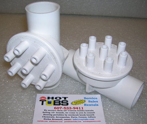 Air/Water Manifold - Eight 3/8 x 1 Female Slip