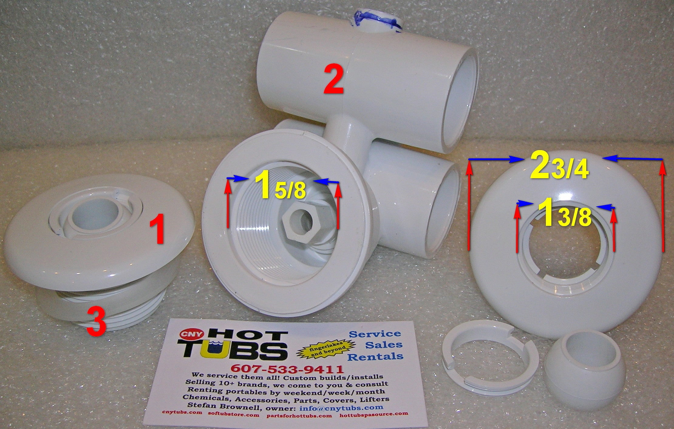 Hydro Air Micro Jet Wall Fitting 1 3 In Photo