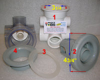 Hydro Air 3 Port Butterfly WALL FITTING (#4 IN PHOTO)
