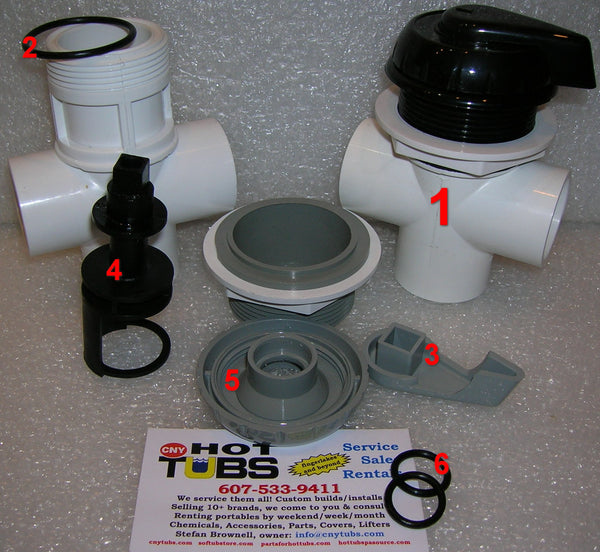Handle for Hydro-Air 1 inch Diverter Valve (#1 IN PHOTO)