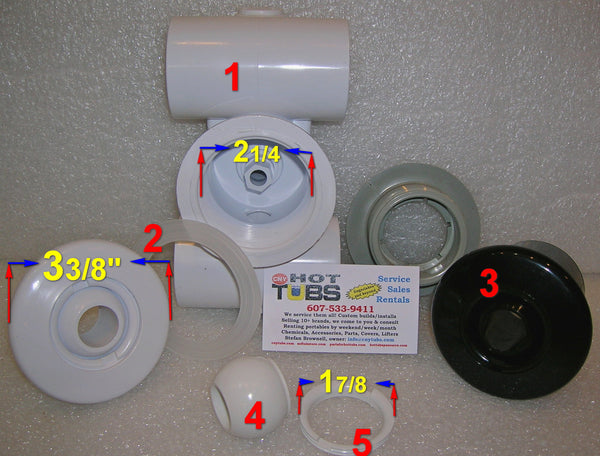 Hydro Air Hydro Jet Wall Fitting with Eyeball (#3 IN PHOTO)