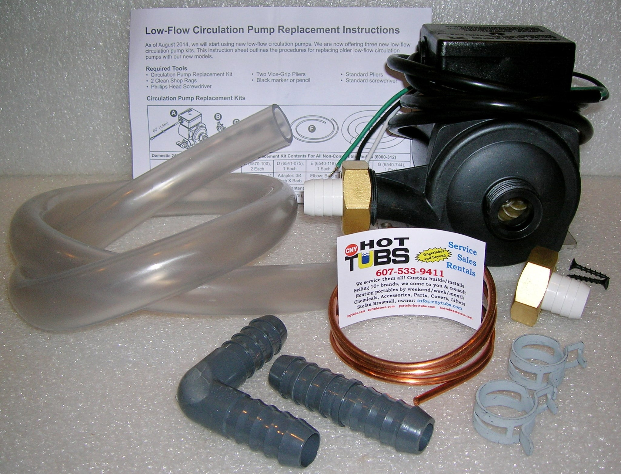 Jacuzzi Replacement Circulation Pump Kit 115 And 230volt