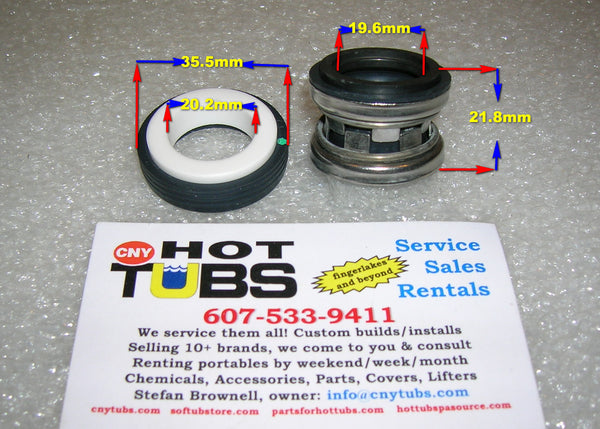 Jacuzzi J Spa Pump Shaft Seal