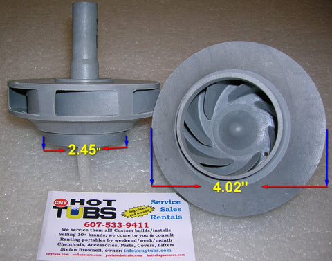 Jacuzzi J200/J300 Spa Pump Impeller 2 HP (PRE-2009)