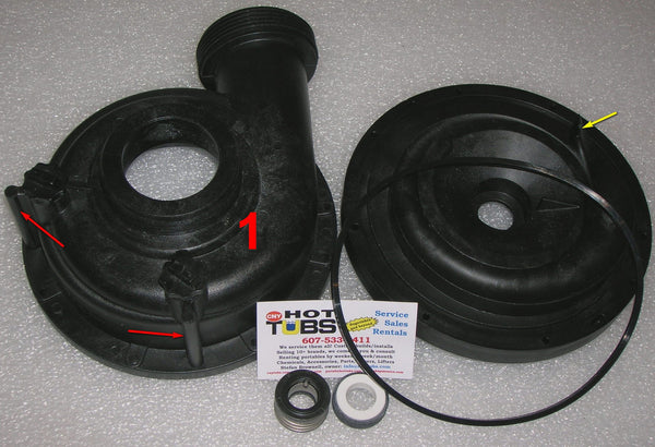 Jacuzzi Spa Pump Housing - FRONT, 2009-UP