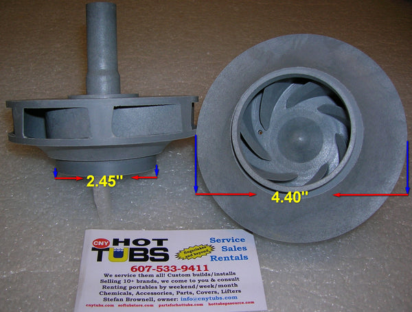 Jacuzzi J200/J300 Spa Pump Impeller 2 HP (2009 -NEWER)