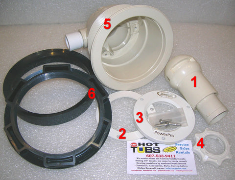 Clamping Ring (with logo) for Jacuzzi HTA Type Jets (#2 IN PHOTO)