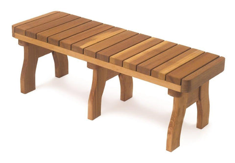 Piano Key Redwood Bench 48 inch
