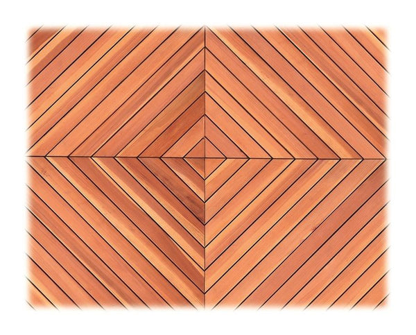 Redwood Quick Deck Panels Set of 4x24 inch