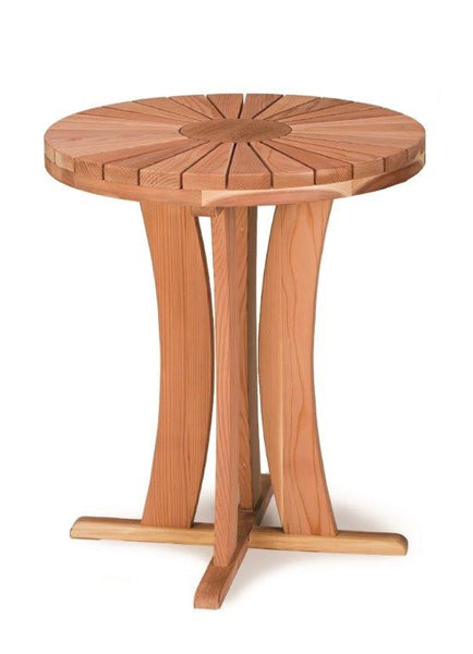 Round Redwood Table 36 inch