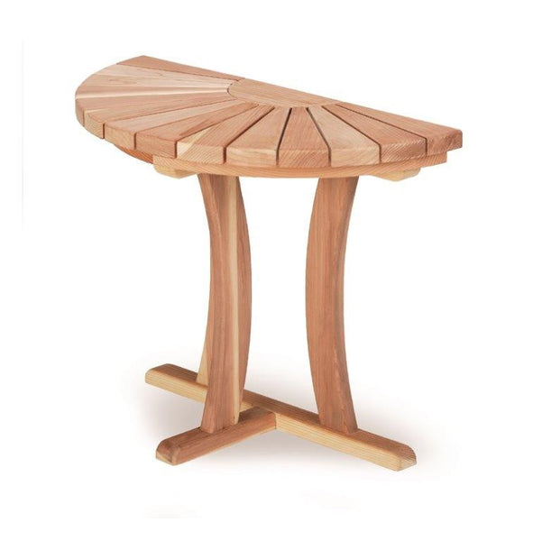 Half Round Redwood Table 36 inch