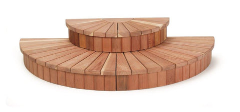 Sunburst Double Step Redwood Spa Step 58 inch
