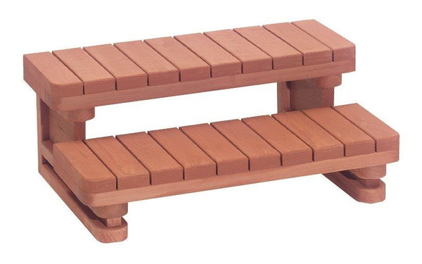 Double Step Redwood Spa Step 36 inch