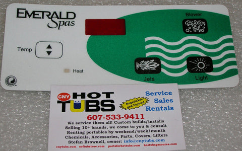 Balboa Topside Controller for SS3D Emerald Spas Overlay Sticker