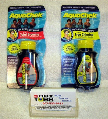 Aquachek Test Strips: Chlorine or Bromine