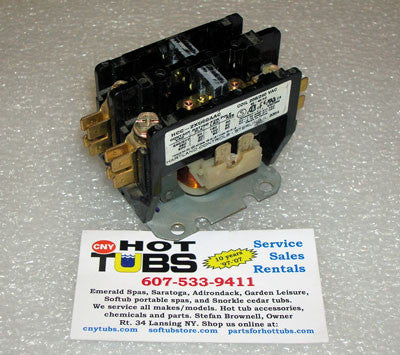 Double Pole Contactor Relay 24 Volt 30 Amp
